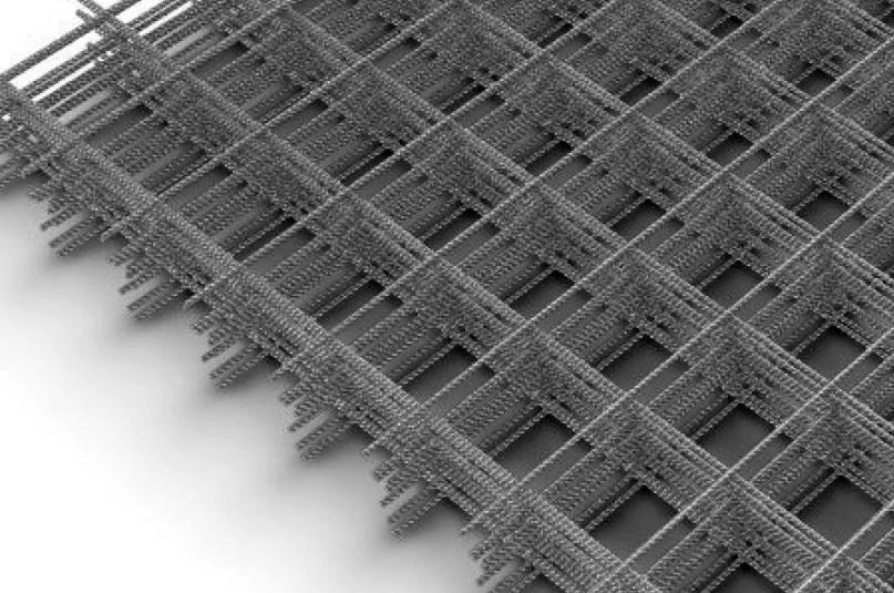 Сетка сварная оцинкованная в картах ВР-1 50x50x3 мм, карта 0,5x2